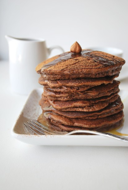chocolate hazelnut pancakes