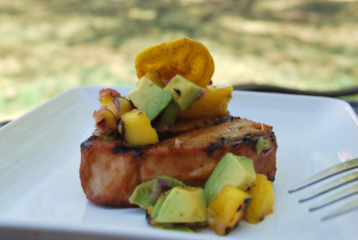 Caribbean Grilled Tuna Steaks with Mango Avocado Salsa ~ Paleo, Gluten ...