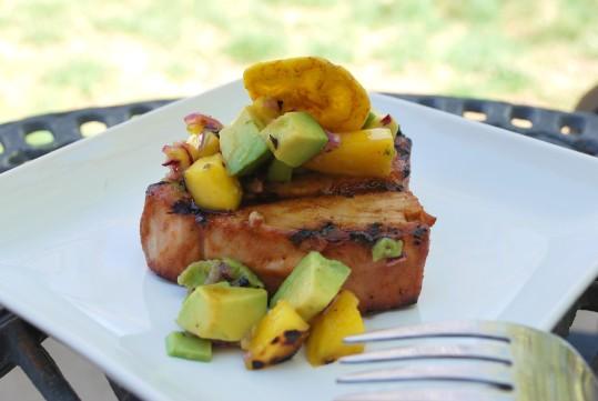 Grilled caribbean tuna with mango avacado salsa (30).JPG edit