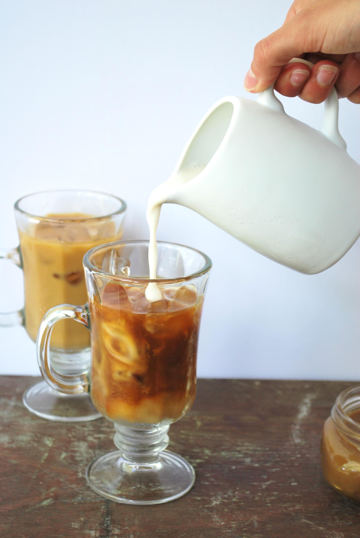 dairy free paleo coconut caramel macchiato iced coffee. Black Bedroom Furniture Sets. Home Design Ideas